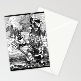 Lone Wolf Battle Stationery Cards