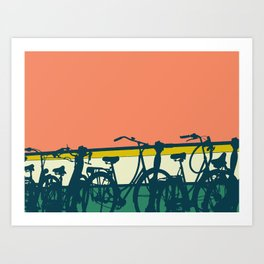 On your bike (Grapefruit) Art Print