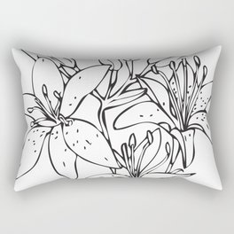 Day Lilies #2 Rectangular Pillow