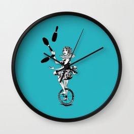 Juggling Unicyclist Wall Clock
