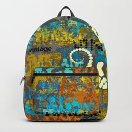 Rusty Vintage Typeface  Backpack
