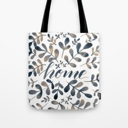 Watercolor home foliage – neutral Tote Bag
