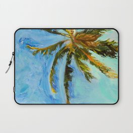 Akumal Palm Tree Painting Laptop Sleeve