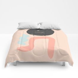 Peach and Blue Dreams Comforters
