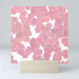 Blush Pink & Gold Florals Mini Art Print