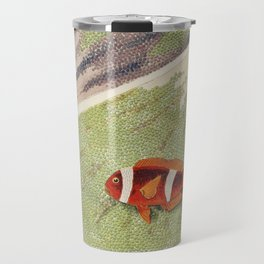 Vintage Great Barrier Reef and Clown Fish Illustration Travel Mug