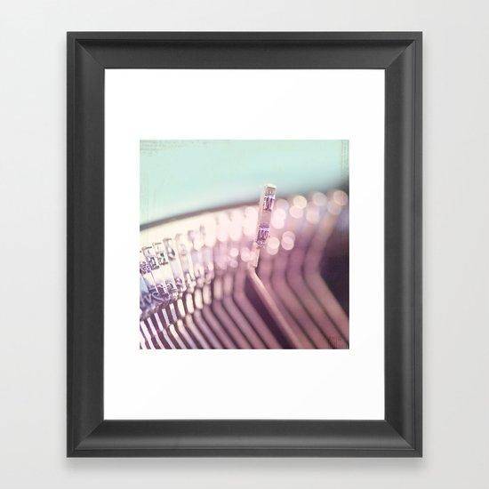 W is for wonderful Framed Art Print
