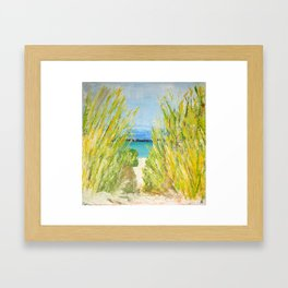 The water is waiting  Framed Art Print