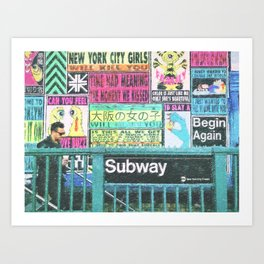 NYC Subway Art Art Print