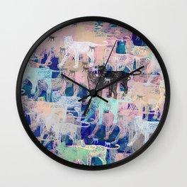Instinctive Kittens Abstract Wall Clock