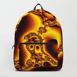 """Burnt Umber"" Fractal Art Print Backpack"