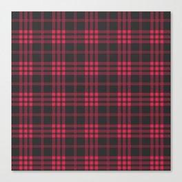 Red and black tartan pattern Canvas Print