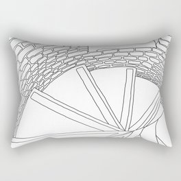 Inside London Queen's Tower - Line Art Rectangular Pillow