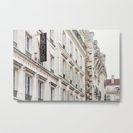 Hotel Amour in Montmartre, Paris Photography Metal Print