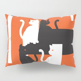 Cat in De Stijl - Halloween Edition Pillow Sham
