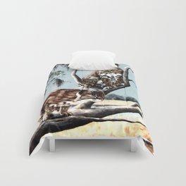 Bobcat Bayou painting Comforters