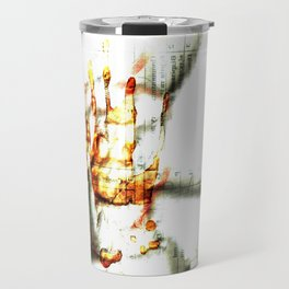 Trace of the hand Travel Mug