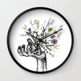 Flower-power Wall Clock