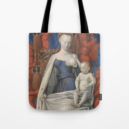 Madonna And Child By Jean Fouquet 1452 Tote Bag