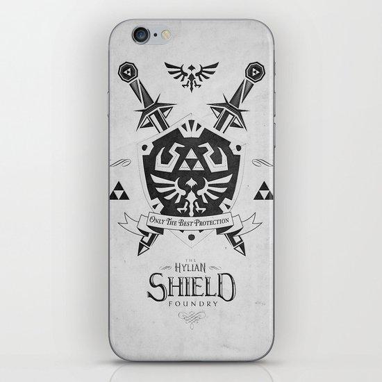 Legend of Zelda Hylian Shield Foundry logo Iconic Geek Line Artly iPhone & iPod Skin