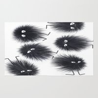men Area & Throw Rugs featuring Ink Men by Jennifer Warmuth Art And Design