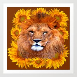 "AUGUST ""LEO"" BORN BABIES IN COFFEE BROWN ART Art Print"