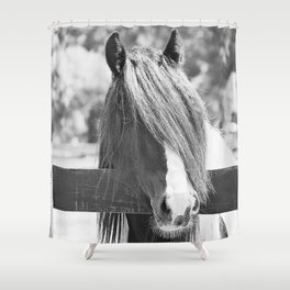 I am Watching You in BW Shower Curtain