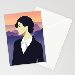Girl Retro Style 02 Stationery Cards