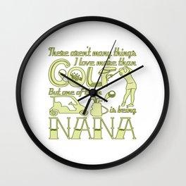 Golf Nana Wall Clock