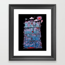Happy City Framed Art Print