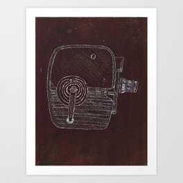 Keyston Capri K30 8mm Camera - Original Plate  Art Print