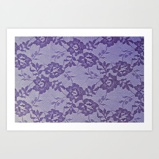 Purple lace Art Print
