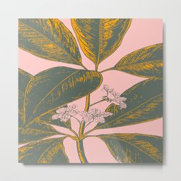 Modern Botanical Banana Leaf Metal Print