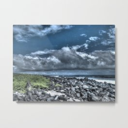 dark sky and rocks Metal Print