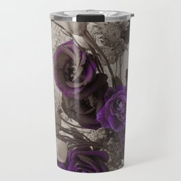 Vintage purple sepia floral Travel Mug
