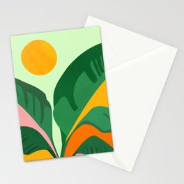 Things Are Looking Up / Tropical Greenery Stationery Cards