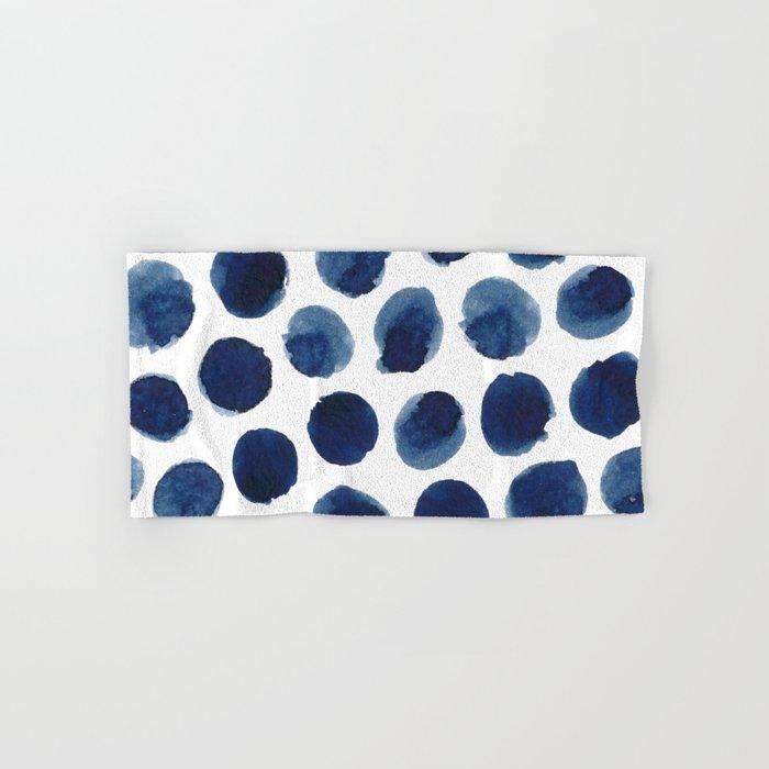 Watercolor polka dots Hand & Bath Towel