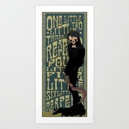 One Little Two Little Three Little Reapers... Art Print