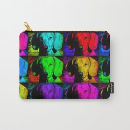 Colorful Pop Art Dachshund Doxie Face Closeup Tiled Image Carry-All Pouch