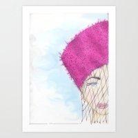 """Girl in Hat""  Art Print"