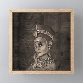 Nefertiti - the Egyptian Queen - sepia Framed Mini Art Print