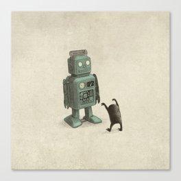 Robot Vs Alien Canvas Print