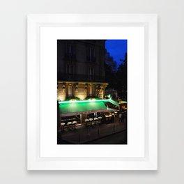Le Cafe de la Place Framed Art Print