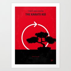 No125 My KARATE KID minimal movie poster Art Print