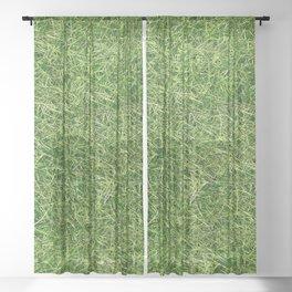 Grass Textures Turf Sheer Curtain