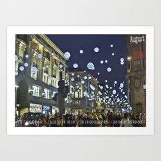 #Calendario de Adviento: Christmas is not all about shopping . . .   Art Print