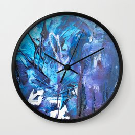 Figure in blue Wall Clock