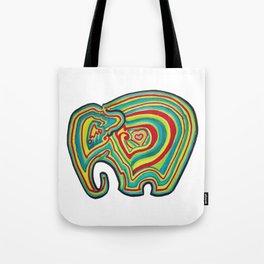 Vibrant Elephant Tote Bag
