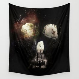 Cave Skull Wall Tapestry