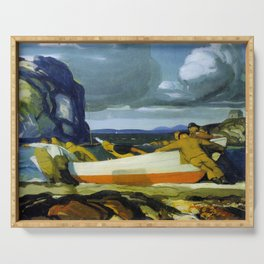 George Bellows The Big Dory 1913 Serving Tray